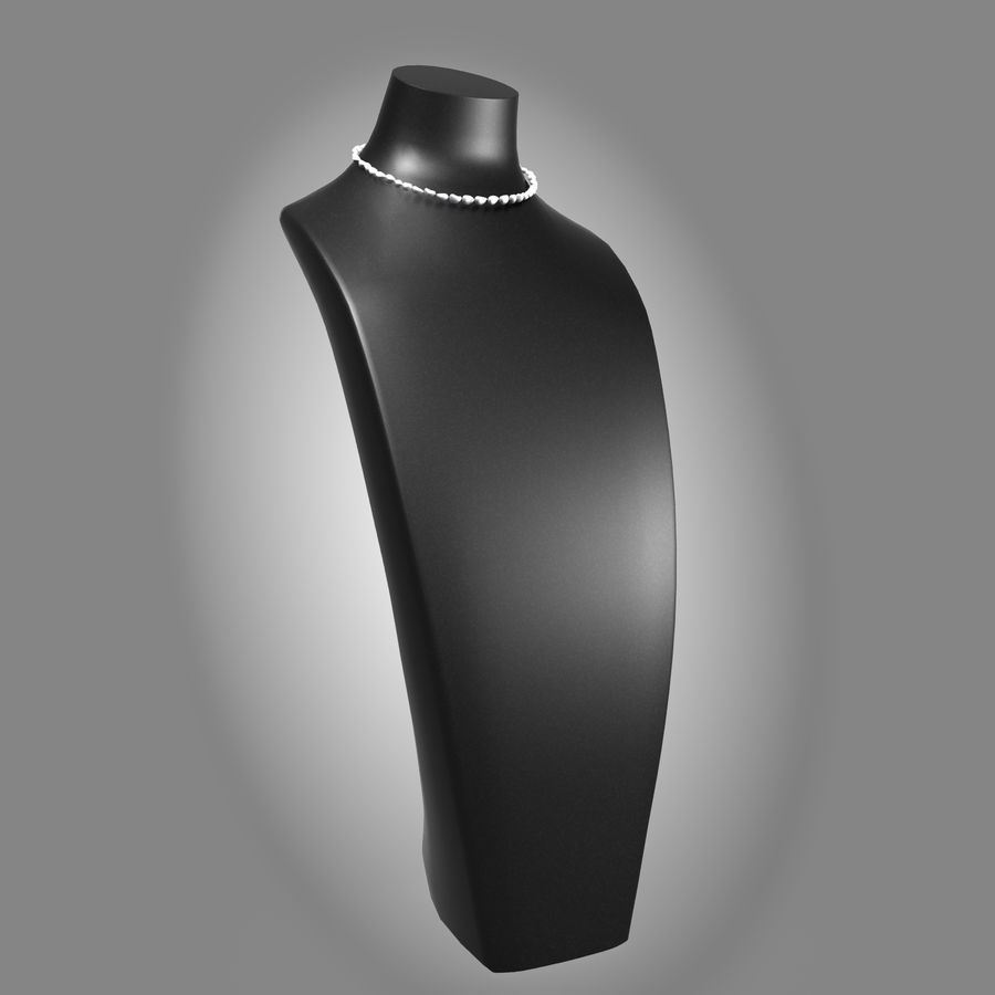 Jewelry Mannequins royalty-free 3d model - Preview no. 2