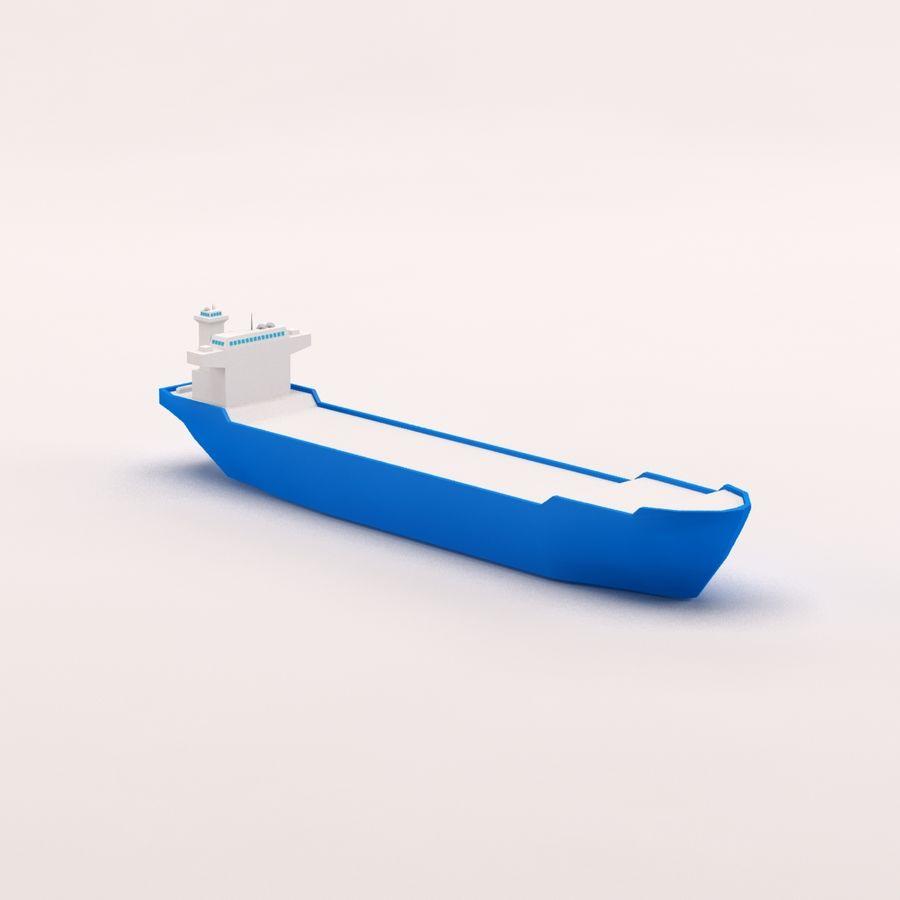 Мультяшный низкополигональный грузовой корабль royalty-free 3d model - Preview no. 11
