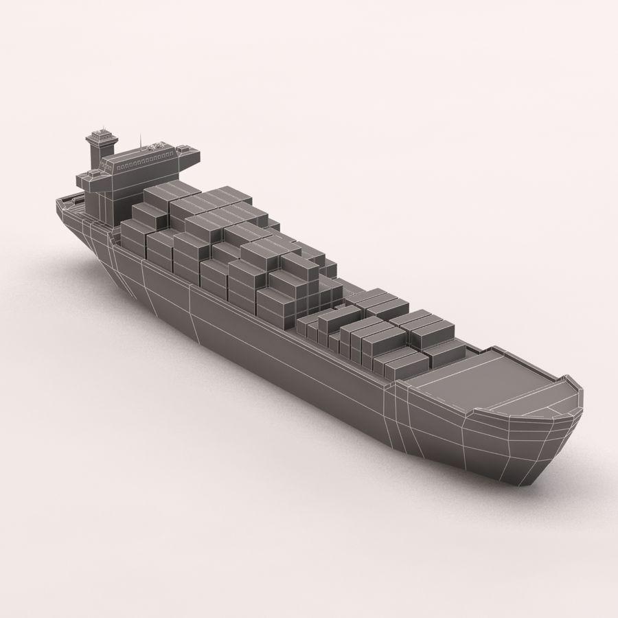 Мультяшный низкополигональный грузовой корабль royalty-free 3d model - Preview no. 14