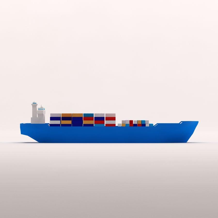 Мультяшный низкополигональный грузовой корабль royalty-free 3d model - Preview no. 9