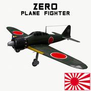 Mitsubishi A6M2 Zero plane 3d model