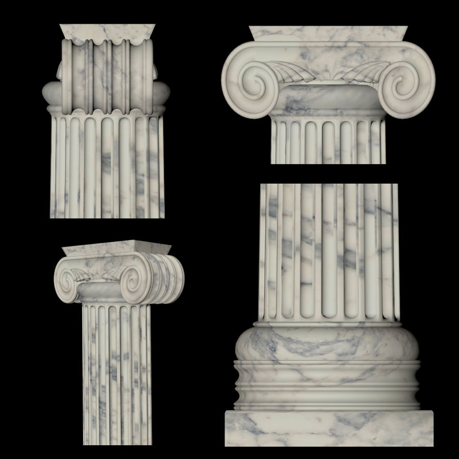 Ionic column 1 royalty-free 3d model - Preview no. 2