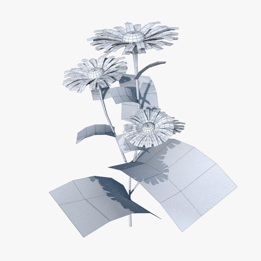 カモミールの花 royalty-free 3d model - Preview no. 6
