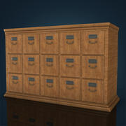 Office drawers 3d model