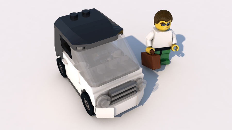 Lego bil royalty-free 3d model - Preview no. 1