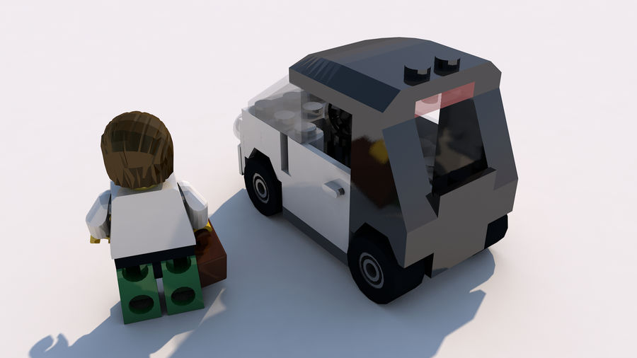 Lego car royalty-free 3d model - Preview no. 2