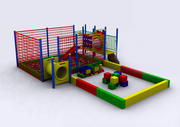 gra wewnątrz 3d model