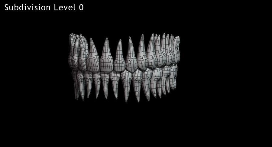 牙齿v2.0 royalty-free 3d model - Preview no. 12