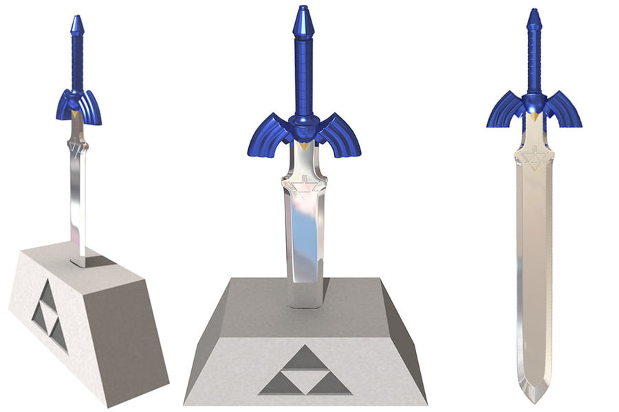 Master sword oot royalty-free 3d model - Preview no. 1
