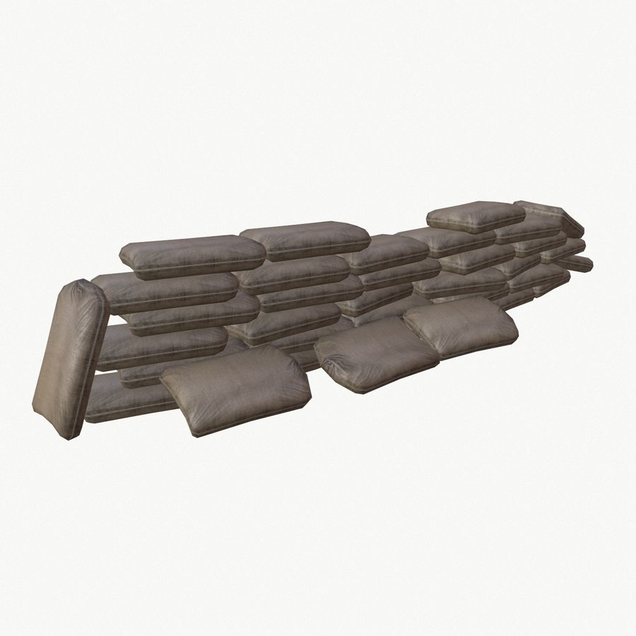 Sand bags royalty-free 3d model - Preview no. 4