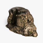 木の切り株 3d model