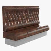 Upholstered sofa for cafe 3d model