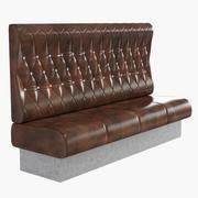 咖啡厅的软垫沙发 3d model