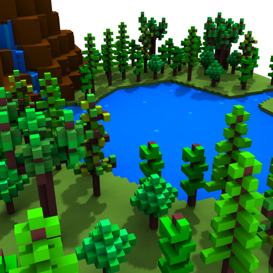 Forest Scene royalty-free 3d model - Preview no. 2