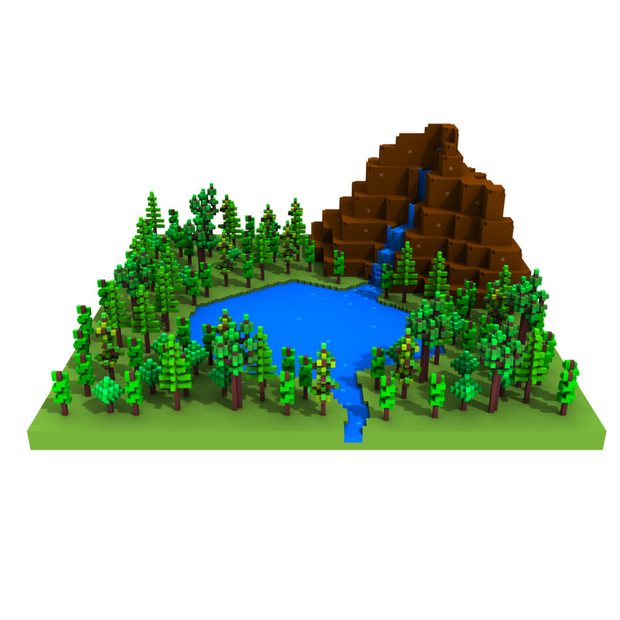 Forest Scene royalty-free 3d model - Preview no. 1