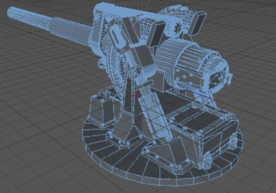 Artillery Cannon royalty-free 3d model - Preview no. 9