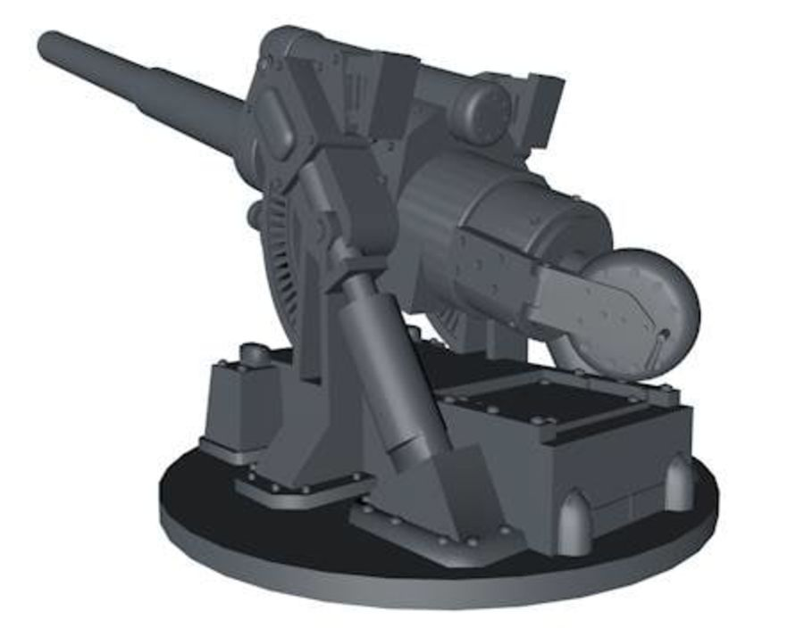 Artillery Cannon royalty-free 3d model - Preview no. 6