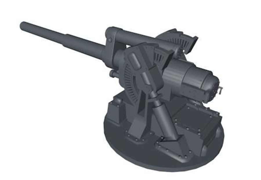 Artillery Cannon royalty-free 3d model - Preview no. 1