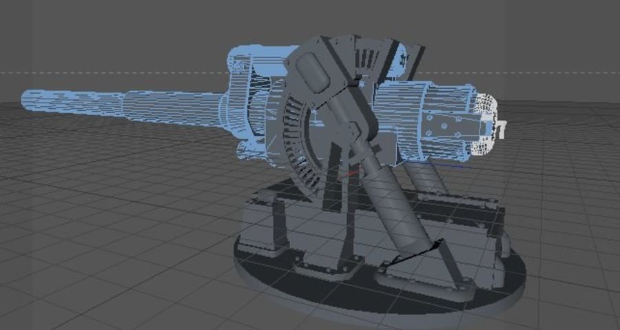 Artillery Cannon royalty-free 3d model - Preview no. 8