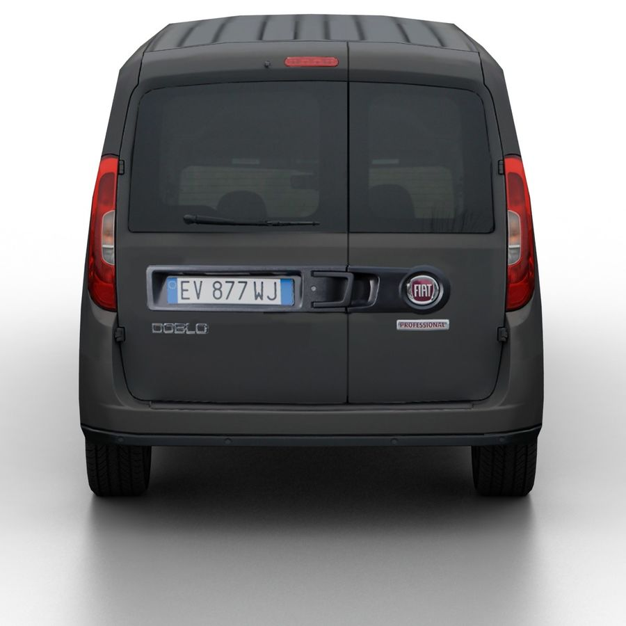 Fiat Doblo 2015 royalty-free 3d model - Preview no. 5