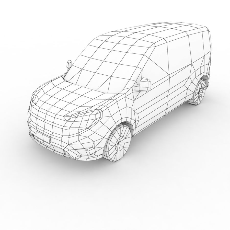 Fiat Doblo 2015 royalty-free 3d model - Preview no. 7