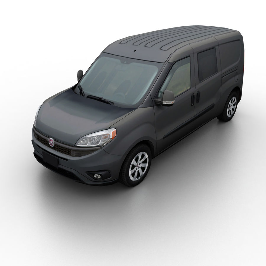Fiat Doblo 2015 royalty-free 3d model - Preview no. 1