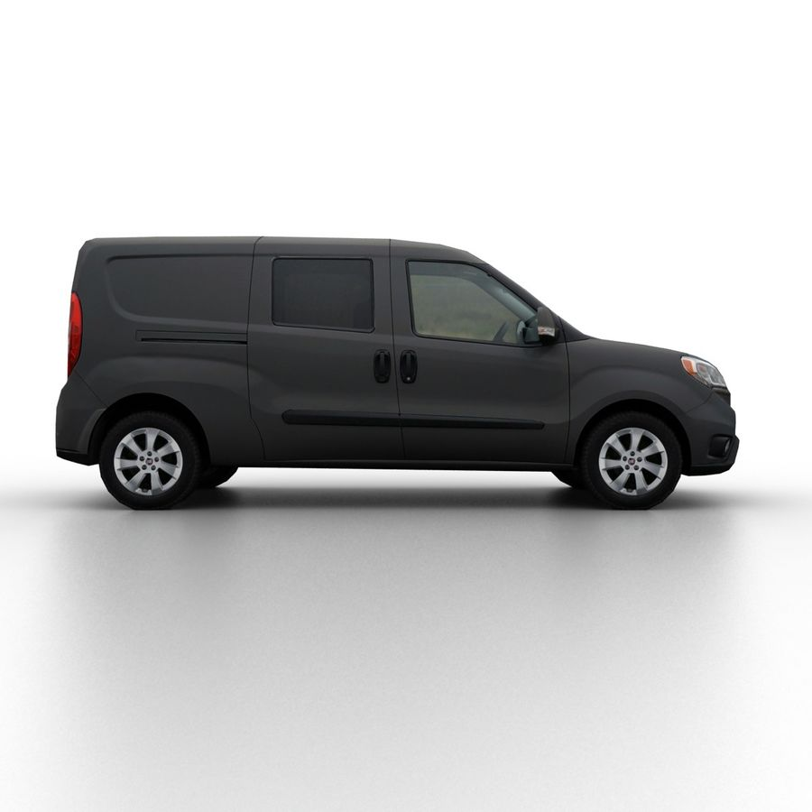 Fiat Doblo 2015 royalty-free 3d model - Preview no. 3