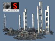 Stedelijke verwoesting 8K 3d model