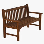 Flat Arm Heavy Duty Outdoor Bench 3d model