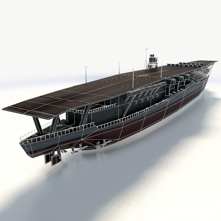 Akagi aircraft carrier royalty-free 3d model - Preview no. 10