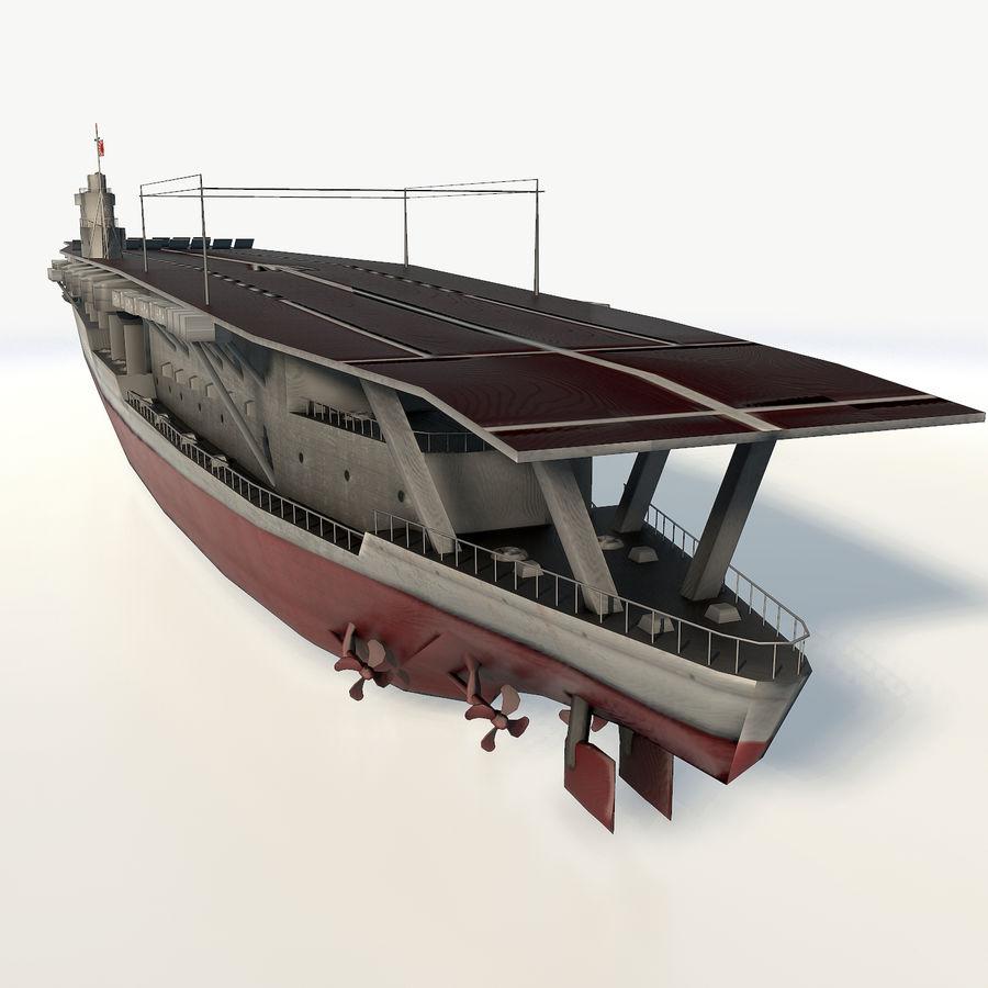 Akagi aircraft carrier royalty-free 3d model - Preview no. 4
