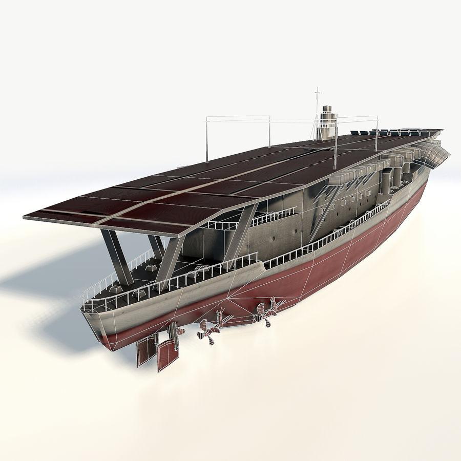 Akagi aircraft carrier royalty-free 3d model - Preview no. 9