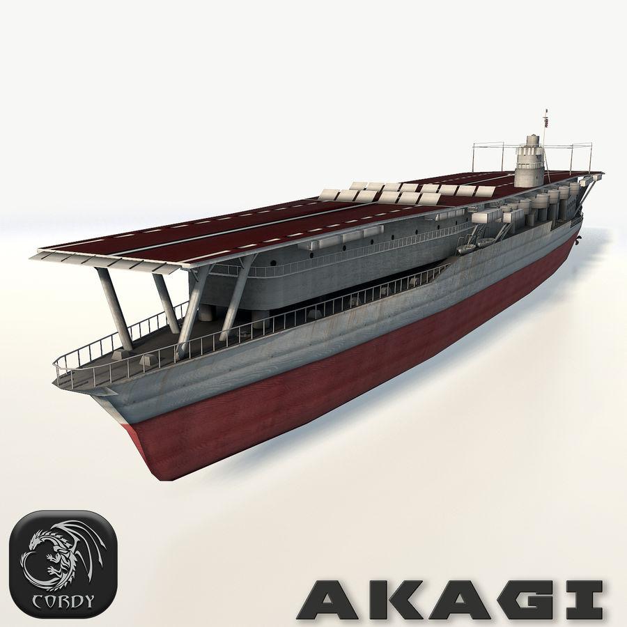 Akagi aircraft carrier royalty-free 3d model - Preview no. 1