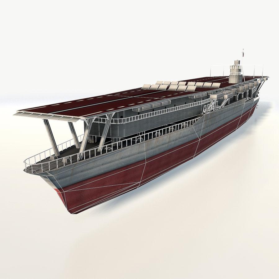 Akagi aircraft carrier royalty-free 3d model - Preview no. 3