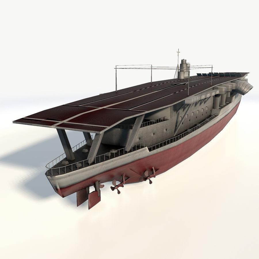 Akagi aircraft carrier royalty-free 3d model - Preview no. 5