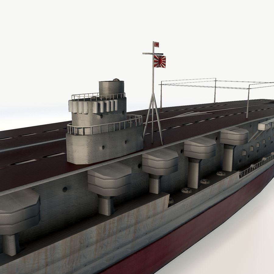 Akagi aircraft carrier royalty-free 3d model - Preview no. 6