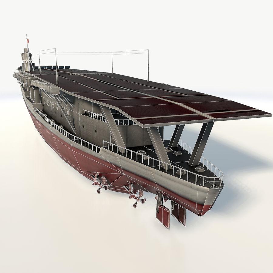 Akagi aircraft carrier royalty-free 3d model - Preview no. 7