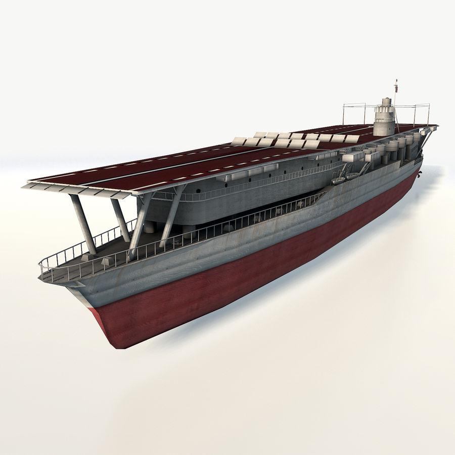 Akagi aircraft carrier royalty-free 3d model - Preview no. 2