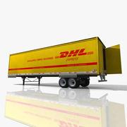 Reboque do caminhão de DHL 3d model