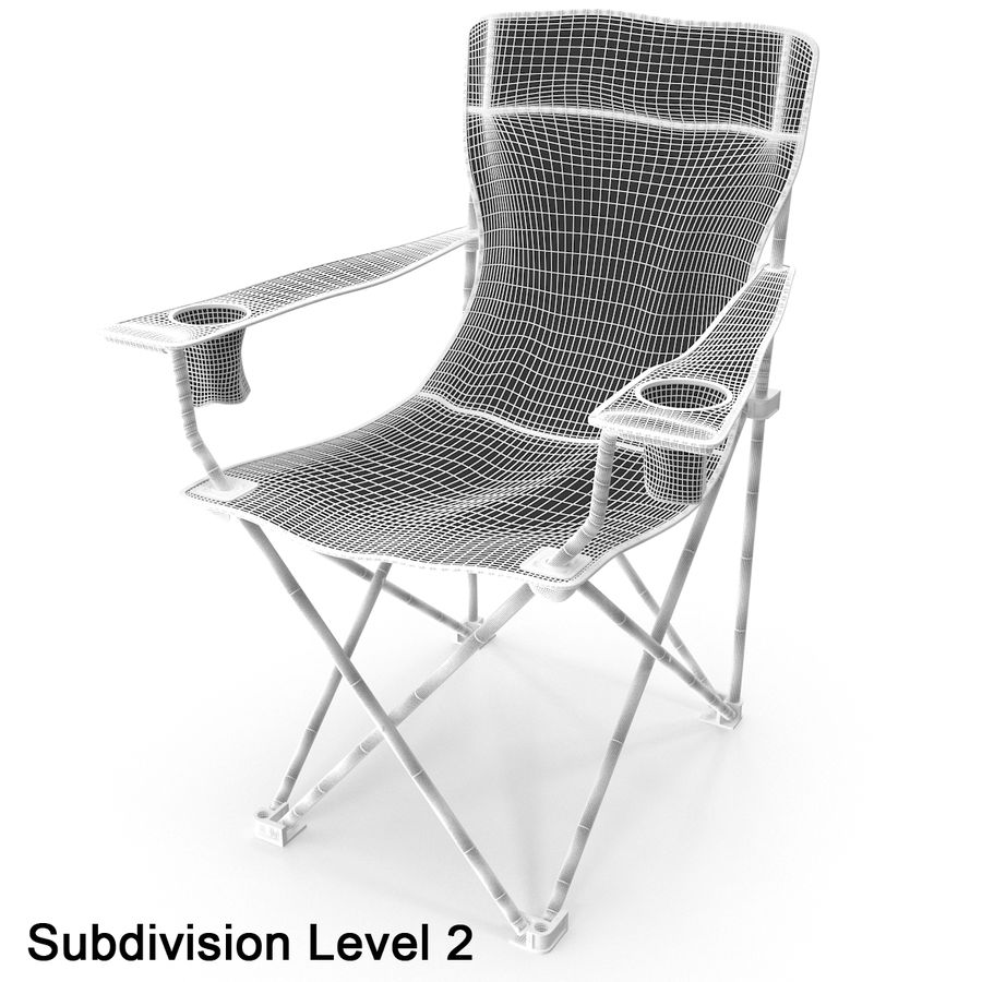 Camping Chair royalty-free 3d model - Preview no. 12