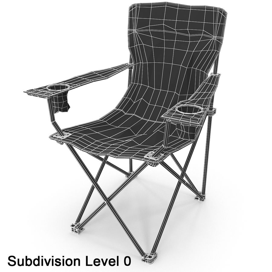 Camping Chair royalty-free 3d model - Preview no. 10
