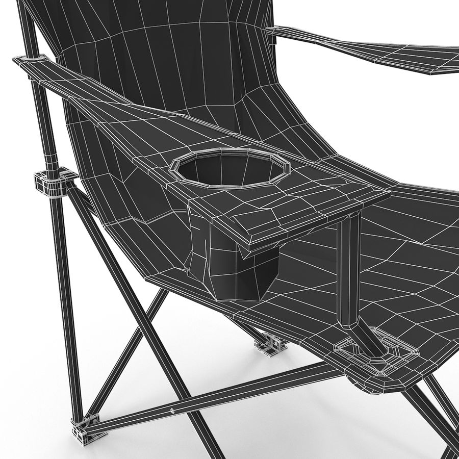 Camping Chair royalty-free 3d model - Preview no. 17
