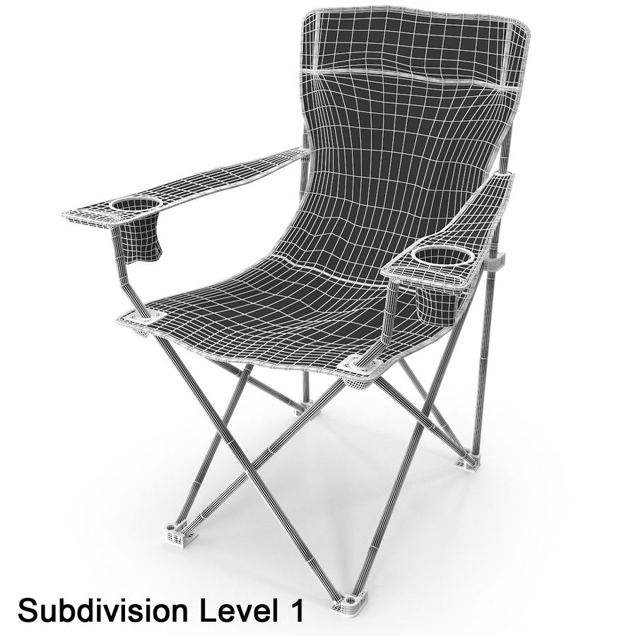Camping Chair royalty-free 3d model - Preview no. 11