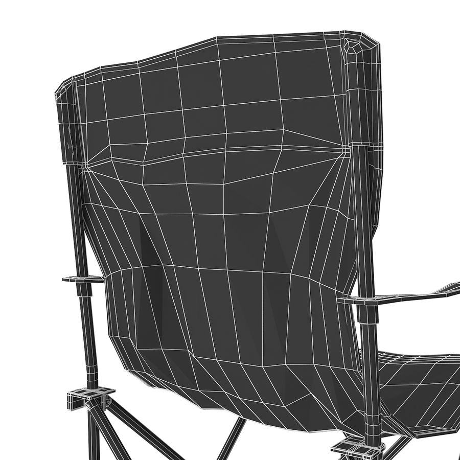 Camping Chair royalty-free 3d model - Preview no. 18