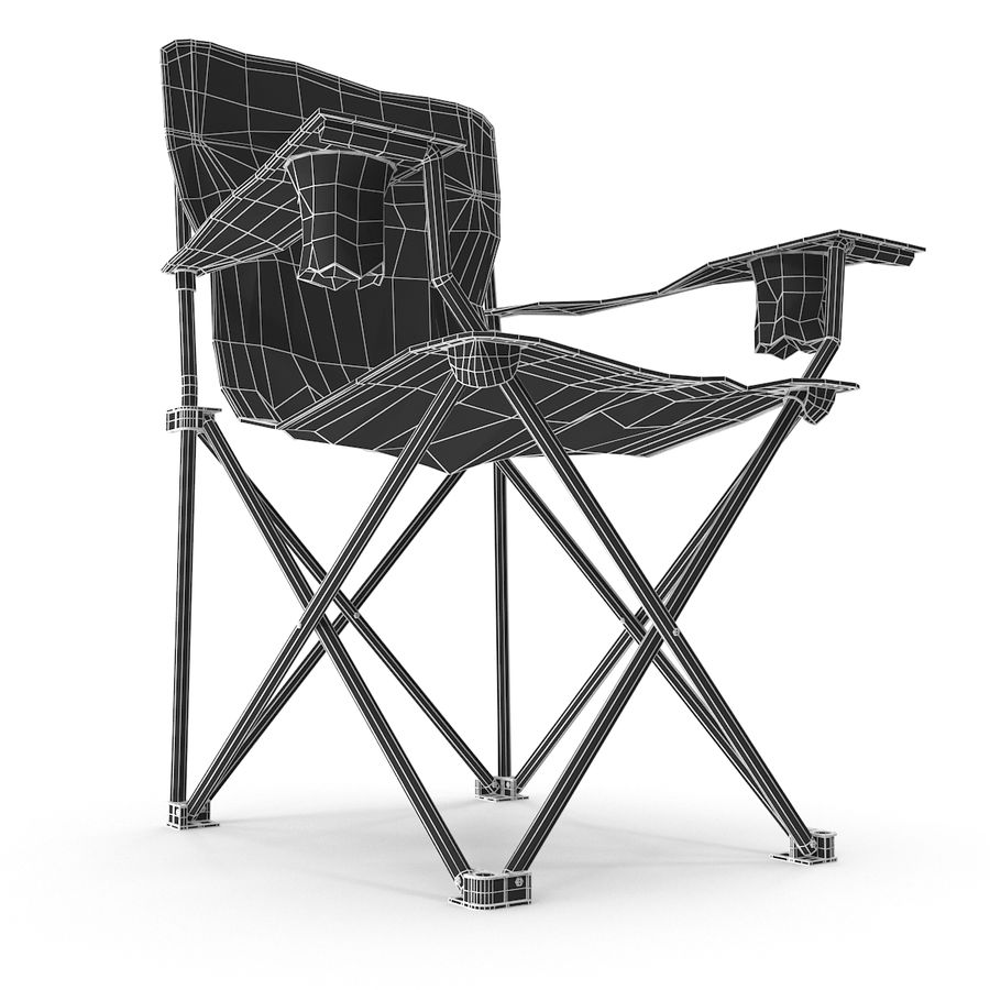 Camping Chair royalty-free 3d model - Preview no. 13