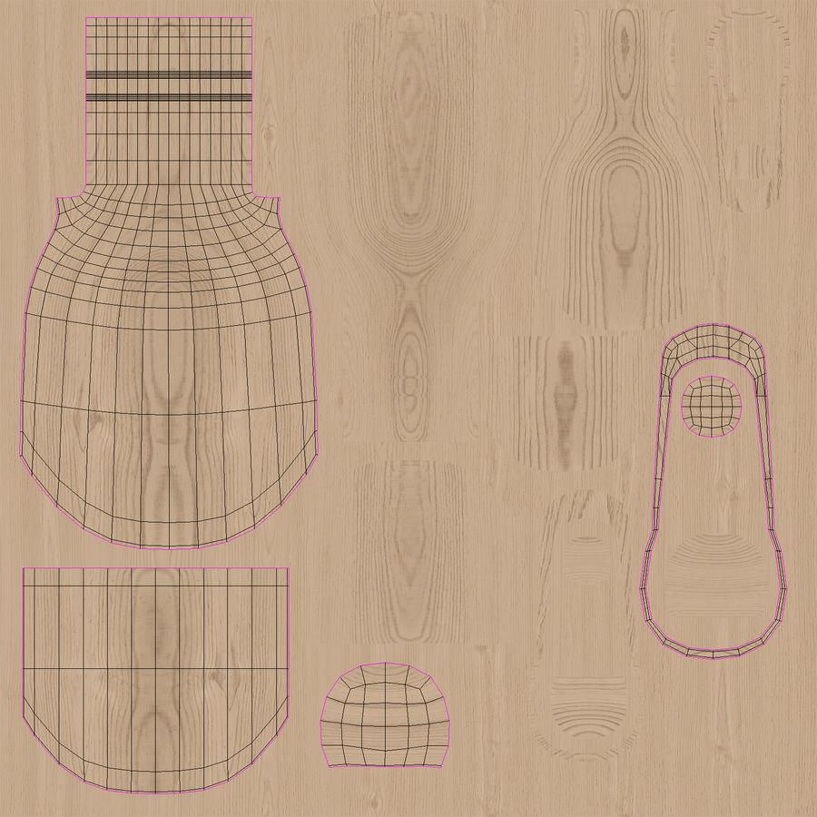 Colher de madeira royalty-free 3d model - Preview no. 29