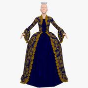 Vestido da rainha 3d model