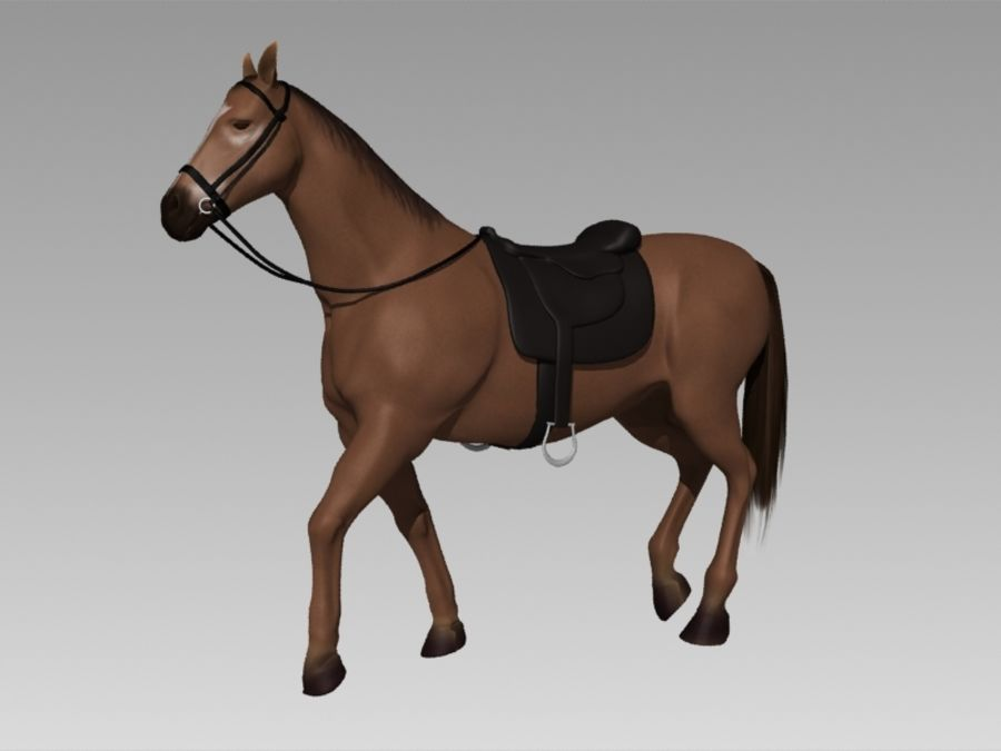 Pferd royalty-free 3d model - Preview no. 1