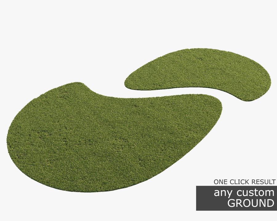 Lawn Grass royalty-free 3d model - Preview no. 9