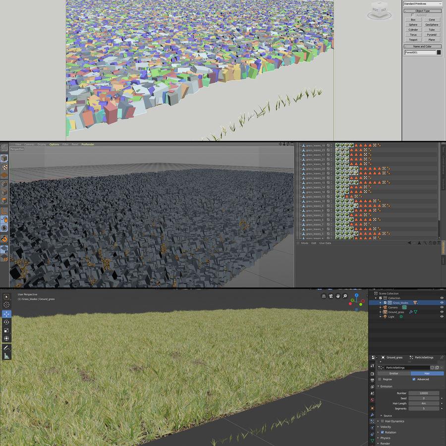 Lawn Grass royalty-free 3d model - Preview no. 8